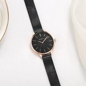 Image 5 - Curren Vrouwen Horloges Luxe Horloge Relogio Feminino Klok Voor Vrouwen Milanese Staal Dame Rose Goud Quartz Dames Horloge Nieuwe