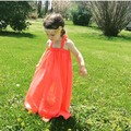 INS Holiday Children's Dress Beach Dress Baby Girl Beach Swim Clothings Bohemia Chiffon Clothes 12M-24M-3T-4T