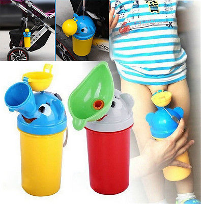 Urinal Car Portable Convenient Travel Cute Baby Urinal Kids Potty Boys Girls Car Toilet Vehicular Urinal Traveling Urination New