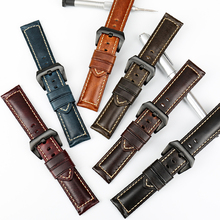 MAIKES Handmade Watch Band 6 Color Genuine Calf Leather Watch Accessories 22-26mm Watch Strap Stainless Steel Buckle Watchband leather watchband strap 12 14 16 18 19 20 22 24 mm stainless steel buckle men women replace band watch accessories