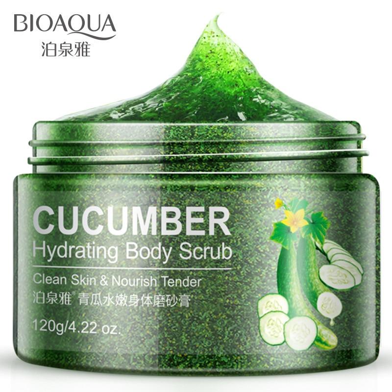 BIOAQUA Cucumber body exfoliating scrub gel deep cleansing moisturizing exxfoliating smooth body whitening skin care scrub gel bioaqua exfoliante para pies