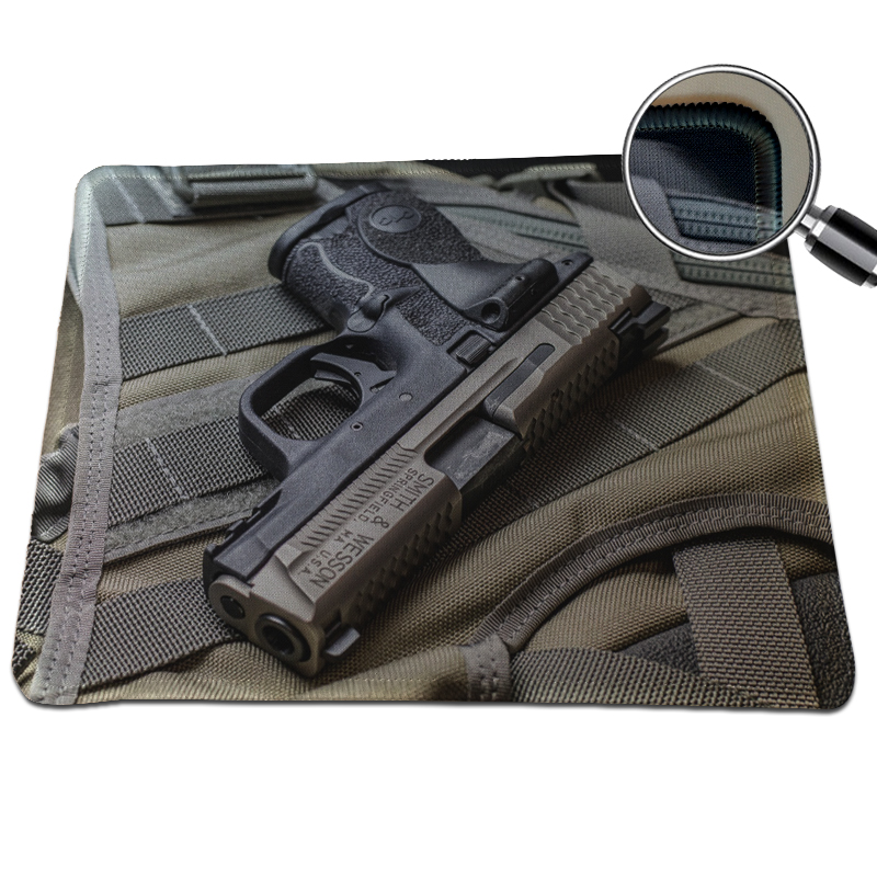 Special Offer Pistols Pattern Gaming Mouse Pad Locking Edge Soft Mice Mat For Dota2 CS Speed Mousepad