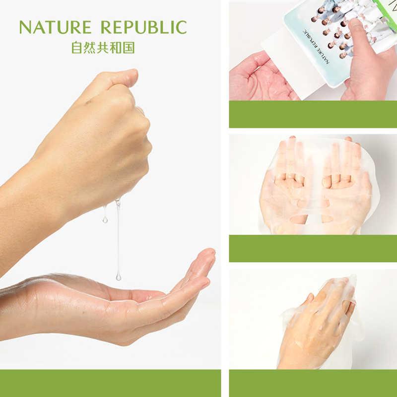 صنع في كوريا لا يحتوي على قناع ورقة جمهورية طبيعي للكحول قناع وجه EXO قناع مرطب للتحكم في الزيوت مبيض للوجه