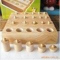 Frete grátis! Brinquedos de madeira tomada cilindro Montessori de ensino prática do desenvolvimento do bebê blocos de brinquedo e dos sentidos