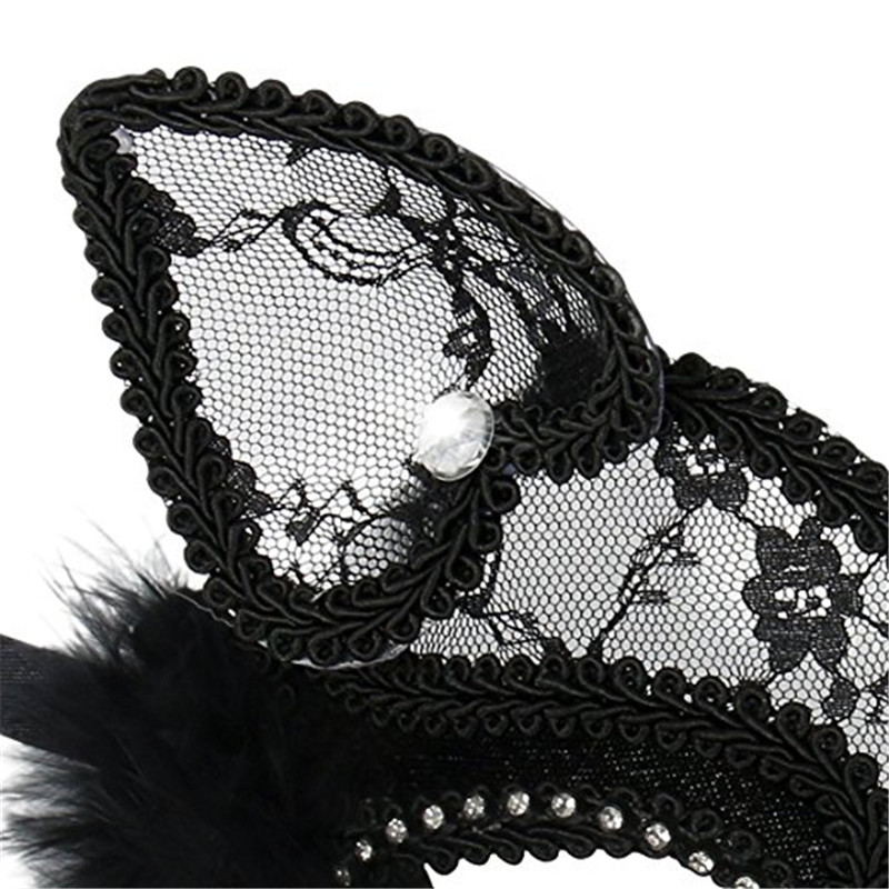 27866804d Aliexpress.com   Buy Luxury Venetian Masquerade Mask Women Girls Sexy Lace  Black Cat Eye Mask for Fancy Dress Christmas Halloween Party from Reliable  mask ...