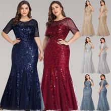 Robe Longue Elegante Meerjungfrau O Hals Kurzarm Sommer Maxi Kleid Bodycon Plus Größe Kleid Frau Party Nacht Robe Femme vestidos