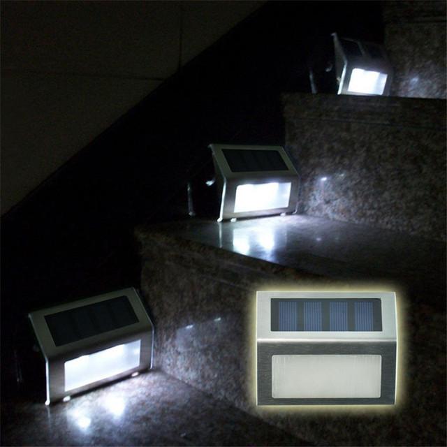 2PCSX Waterproof LED Solar Light Lamps 2Leds Garden Lights Outdoor Landscape Lawn Lamp Solar Wall Lamps led solaire jardin