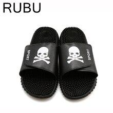 Fashion Men's Beach Slippers Skull Heads Man Slipper Casual Sapatos Masculino Summer heren schoenen zapatillas hombre shoes /05