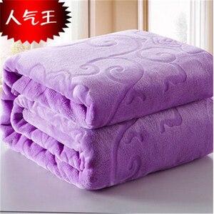Image 5 - Одеяло на кровать, искусственный мех, коралловый флис, норковый плед, однотонный цвет, рельефное оформление, шезлонг, одеяло на стул