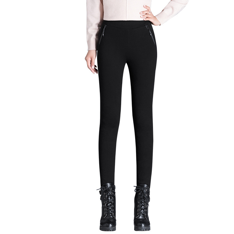 Shuchan 2018 Winter Thick Trousers For Women 90 Down Warm Boot Cut High Elastic Waist Full Length Women 39 s Pants For Women 9058 in Pants amp Capris from Women 39 s Clothing
