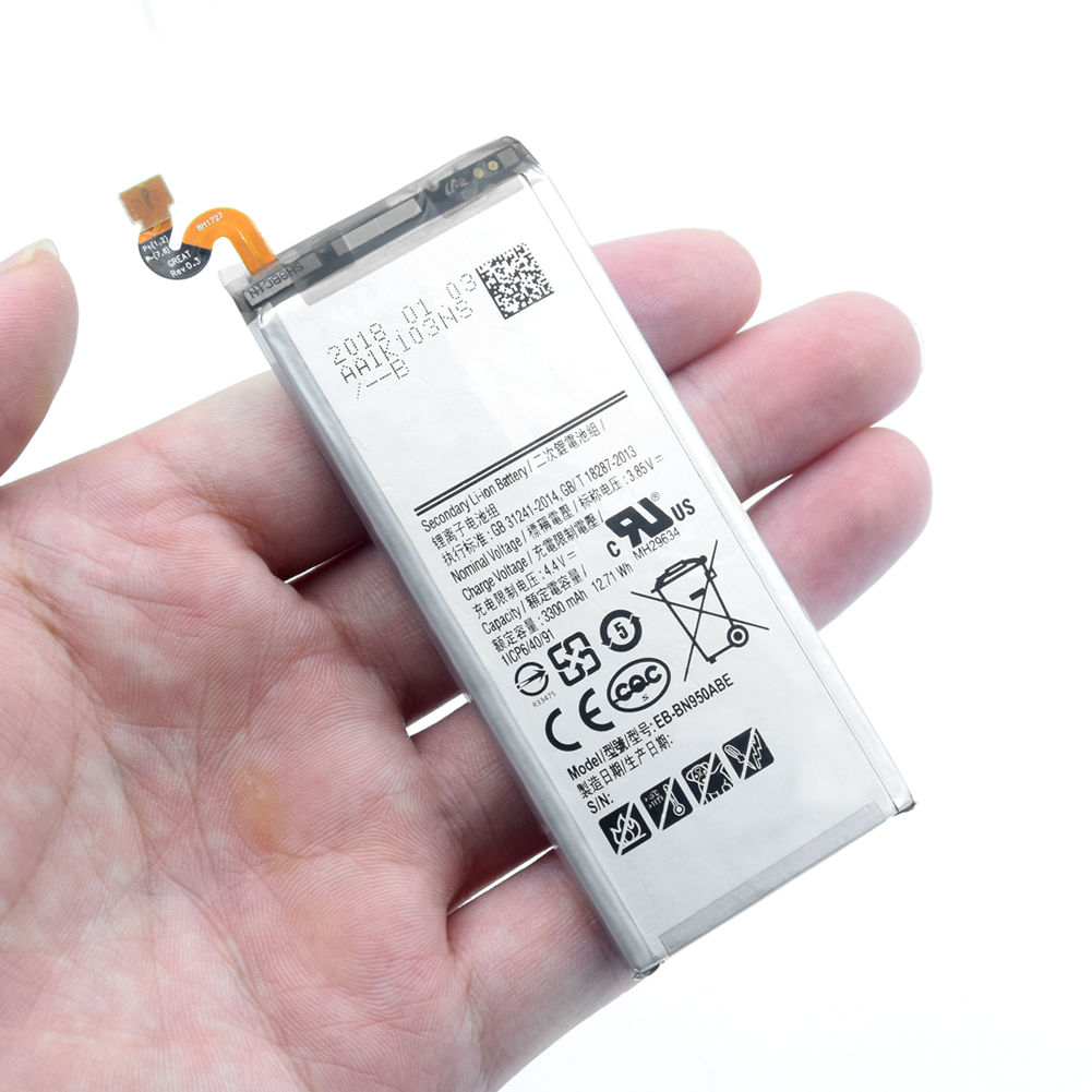 Replacement Battery EB-BN950ABE For <font><b>Samsung</b></font> <font><b>GALAXY</b></font> <font><b>Note</b></font> <font><b>8</b></font> N9500 N950 N950F N950U <font><b>N950N</b></font> EB-BN950ABA 3300mAh Mobile Phone Batterie image