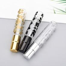 100PCS/Lot 10ML Printing Perfume Bottle Spray Perfumes Travel Aluminum Parfum Portable Empty Cosmetic Containers