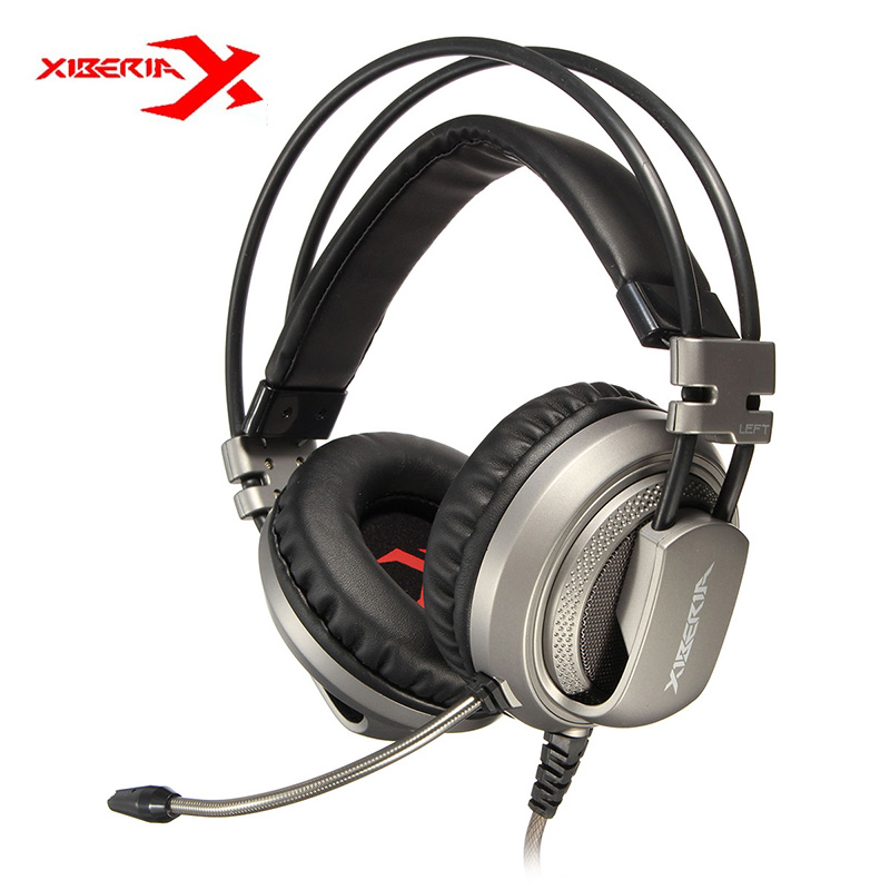 XIBERIA V10 USB Vibration Gaming Headphones LED Computer Stereo Gaming Headset Headphone With Microphone Mic For PC Gamer rock y10 stereo headphone earphone microphone stereo bass wired headset for music computer game with mic