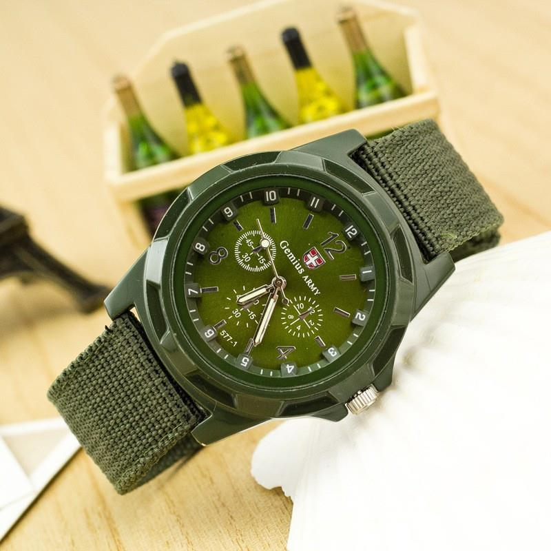 New Famous Brand Men Casual Quartz Watch Army Soldier Canvas Strap Military watches Sports Men Wristwatches relogio masculino