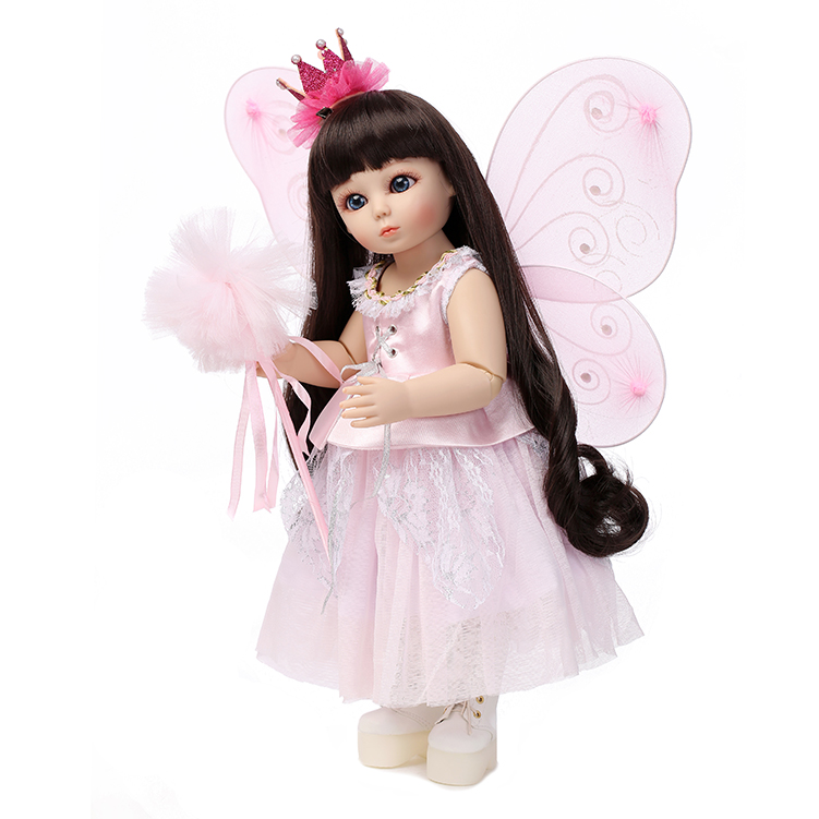 цены 45cm bjd dolls silicone reborn babies beautiful princess hair 18inch children's toys for girls Ball Jointed Doll SD/BJD birthday