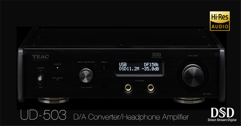 TEAC UD-503 32bit/384KHz/DSD11.2MHz USB DAC FPGA IC PMC converter DSD XLR headphone output  AK4490*2  Windows/OS X/PC HiFi DAC