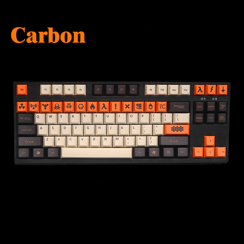 dhl ems 117 keycaps pbt cherry profile caps for mechanical gaming keyboard russian korean japanese Cool Jazz 125 PBT Big carbon Thick Keycap Dye-Sublimated japanese russian Korean layout Cherry profile for Mechanical Keyboard