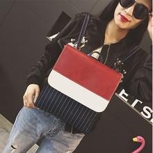 Новый весенний корейский стиль мода рюкзак элегантный дизайн студент школьная сумка Винтаж панелями Для женщин рюкзак Джокер досуг рюкзак