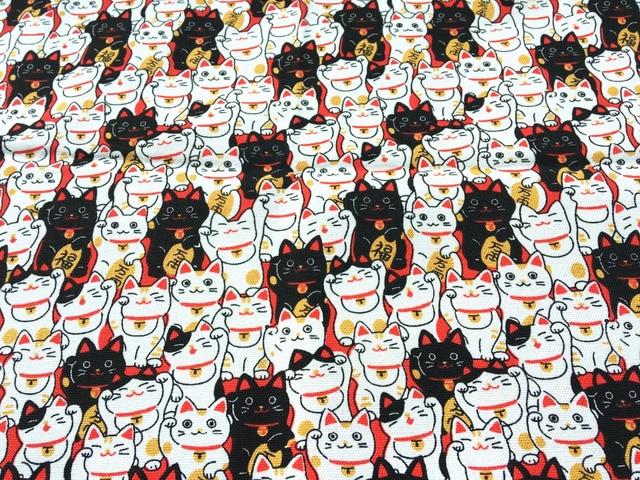 12 Oz One Yard Prints Canvas Fabric 145x91cm Patchwork Cat Diy Curtain Tablecloths Cushions Sewing Textile Doll Cloth