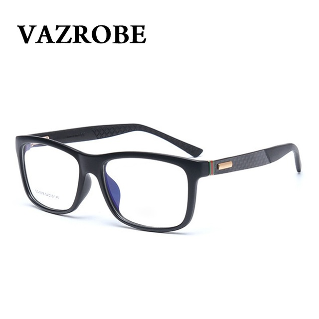 95675501975 Vazrobe fashion Brand TR90 Glasses Men Women oversized Optical Eyeglasses  Frame Spectacles for Male no power makeup eyewear