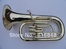 wholesale Direct selling 3 straight key Bb bass, French Horn is golden