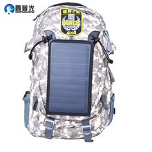 Xinpuguang 6W 6V Backpack Solar Panel Charger Power Outdoor Bag for Travel Cycling Camping Climbing Mobile Phone USB Charging