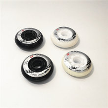 Pçs/lote 4 Patins Roda 80mm 76mm 72mm branco preto rodas patinam para Powerslide para SEBA HV HL Alta Luz De Fibra De Carbono