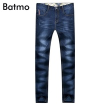 Batmo 2017 новое прибытие осень классический мыть прямые джинсы мужчины, бизнес мужские джинсы 6170-2 плюс размер 29-40