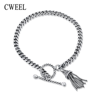 CWEEL 925 Sterling Zilveren Armband Charm Armbanden Voor Vrouwen Kwastje Topkwaliteit Armband Liefde Bridal Wedding Party Bangle