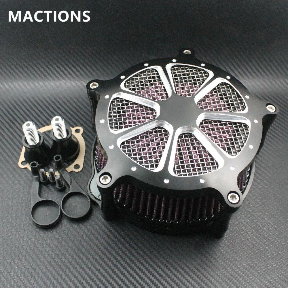Black Motorcyce CNC Air Filter System Intake Air Cleaner Fits For Harley Sportster 883 XLH1200 04