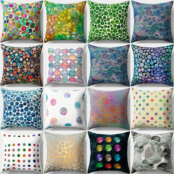 Fashion Galaxy Polka Dots Pattern Square Pillow Cover Case Home Sofa Decoration image