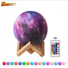 Remote Control 16 Colors Star 3D Moon Lamp