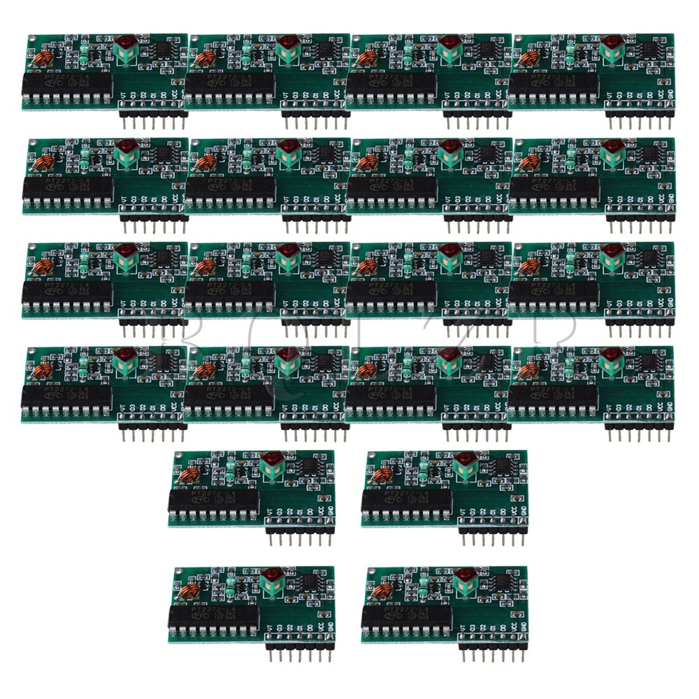 ФОТО BQLZR  20pcs Super-regenerative Wireless Receiver Decode Module 433MHz 4Channel