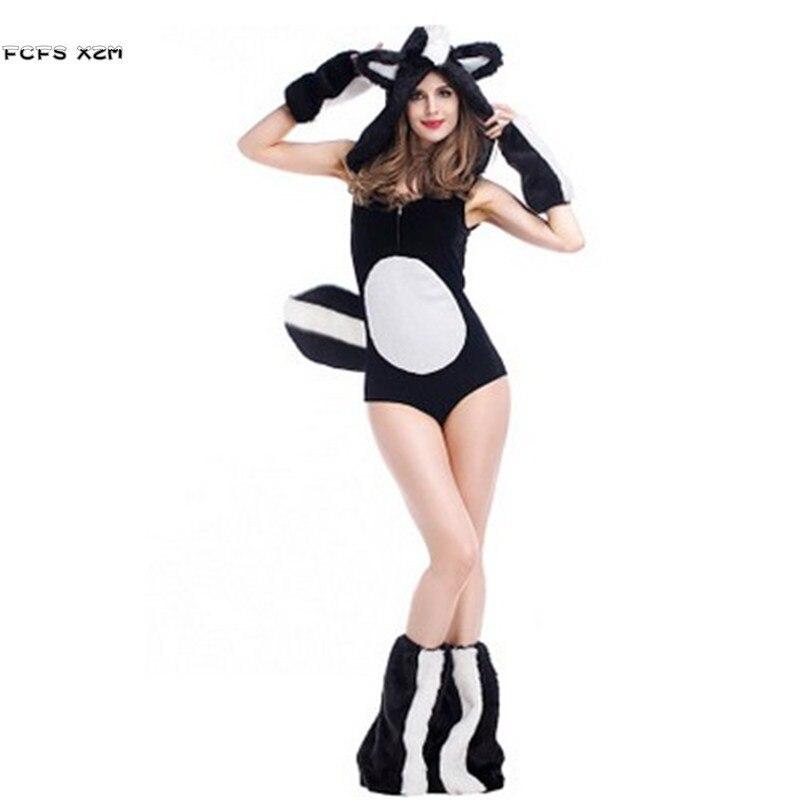 Deluex Kigurumi Sexy femme Halloween animaux Costumes femme écureuil Cosplay hiver pyjamas pourim carnaval fête de noël robe