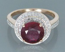 Vintage Natural Ruby Engagement Rings, Solid 14Kt Rose Gold Natural Red Ruby Ring,Genuine Ruby Jewelry