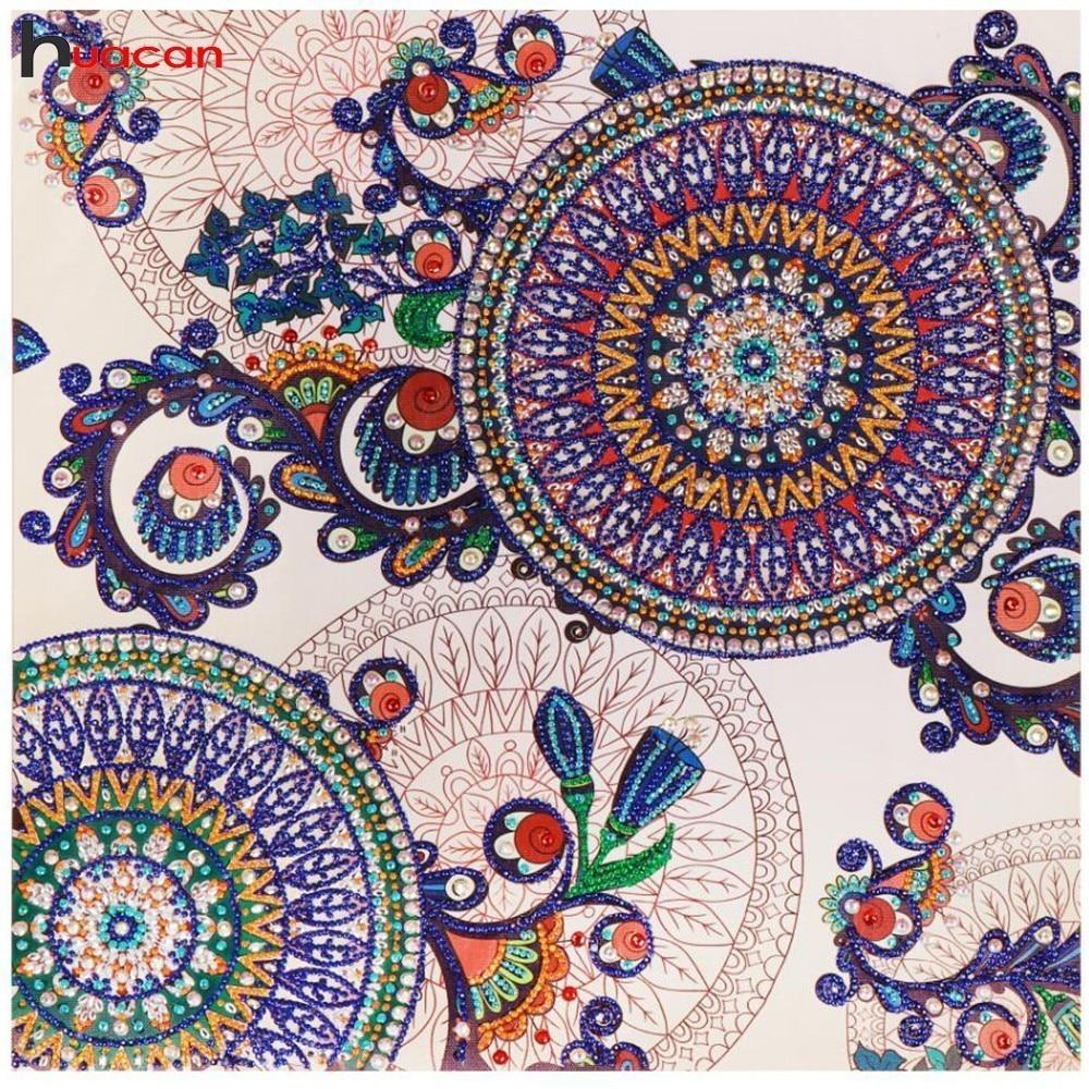 Huacan Special Shaped Diamond Mosaic Flower Handicraft Needlework Rhinestone 3d Drill DIY Diamond Embroidery