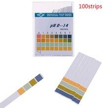 100Pcs 0-14 PH Test Strips Litmus Paper Universal Alkaline Acid Indicator Paper For Water Saliva Soil Aquariums PH Tester