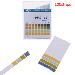 100Pcs 0-14 PH Test Strips Litmus Paper Universal Alkaline Acid Indicator Paper For Water Saliva Soil Aquariums PH Tester
