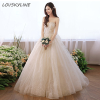 Lace Wedding Dress Beads A Line Sweetheart Embroidery Big Bow Design Lace up Back Bohemian Wedding Dresses