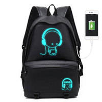 Augur Multifunction USB Charging Men 16inch Laptop Backpacks For Teenager Man Leisure Travel Backpack With Fluorescent