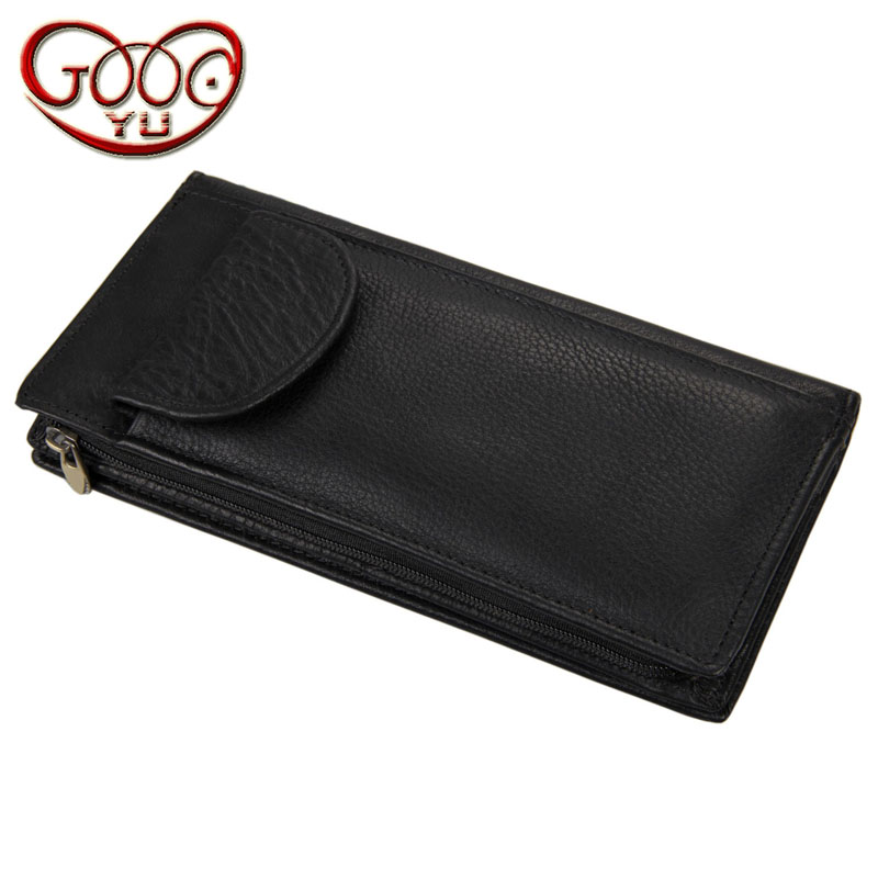 Upscale vertical square leather wallet multi-card bit unique design long casual wallet