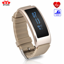 Byuan Heart Rate Monitor Bluetooth Smart Watch IP68 Waterproof Sweat-proof Intelligent Sport Bracelet Wristband PK Mi Miband 2