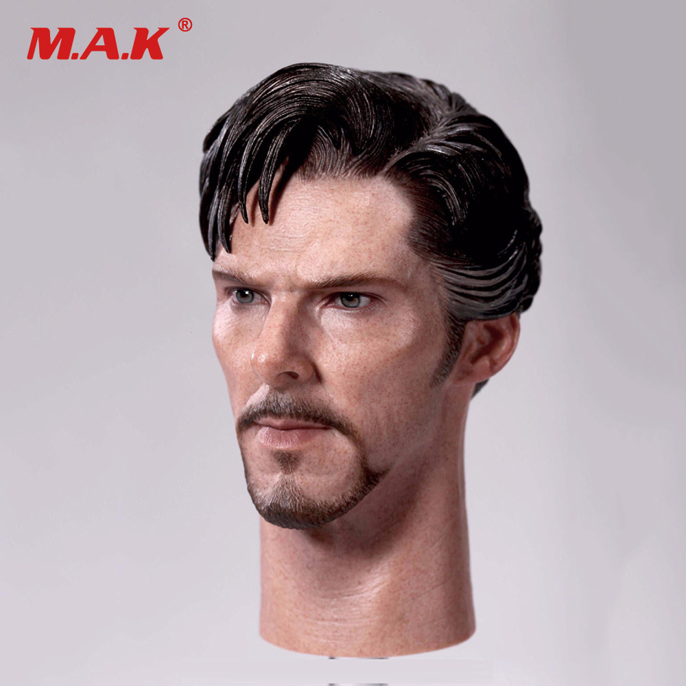 1:6 Scale Male Head Sculpt Doctor Strange Benedict Cumberbatch Head Carving for 12 Action Figure Accessory Toy 1 6 head sculpt male figure doll guardians of the galaxy star lord head carving 1 6 action figure acccessories juguete toys gift