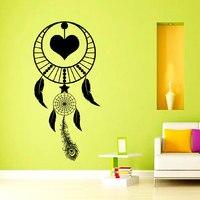 נוצות לוכדים חלומות DSU באיכות גבוהה קישוט חדר השינה מדבקת קיר PVC סמל דתי אמנות ציורי קיר