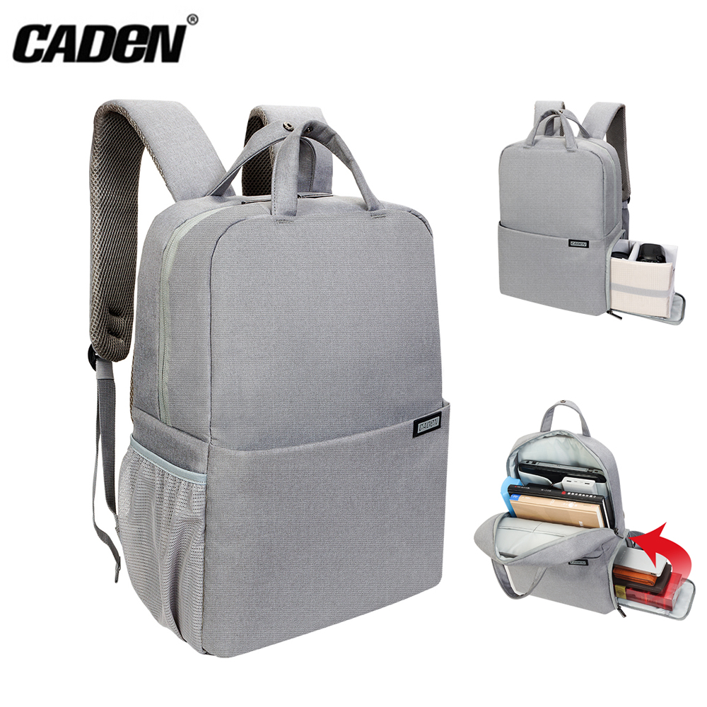 CADEN L5 L5-S Camera Bag Multi-function Shockproof Waterproof Bag Backpack Laptop for Canon Nikon Sony DSLR Camera School Travel caden l5 dslr camera bag video photo digital camera backpack waterproof laptop 14 school travel bag for dslr canon nikon sony