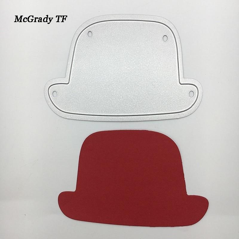 New Hat Cap Die Metal Steel Embossing Cutting Dies Stencils For DIY Scrapbooking Scrapbook Template Album Craft Cutting Dies