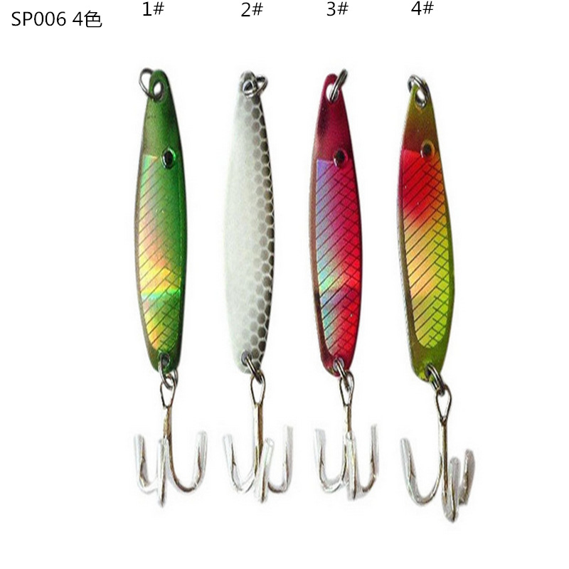 Metal Lure Fishing Bait 6.5g 50mm Lead fish Metal Jig Fishing Lure hook Paillette Knife Wobbler Artificial Hard Bait Jigging Lur