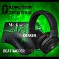 Razer deathadder gaming mouse + kraken chroma croma gaming mousepad gaming headset + presente, nova marca em Estoque, Frete Grátis
