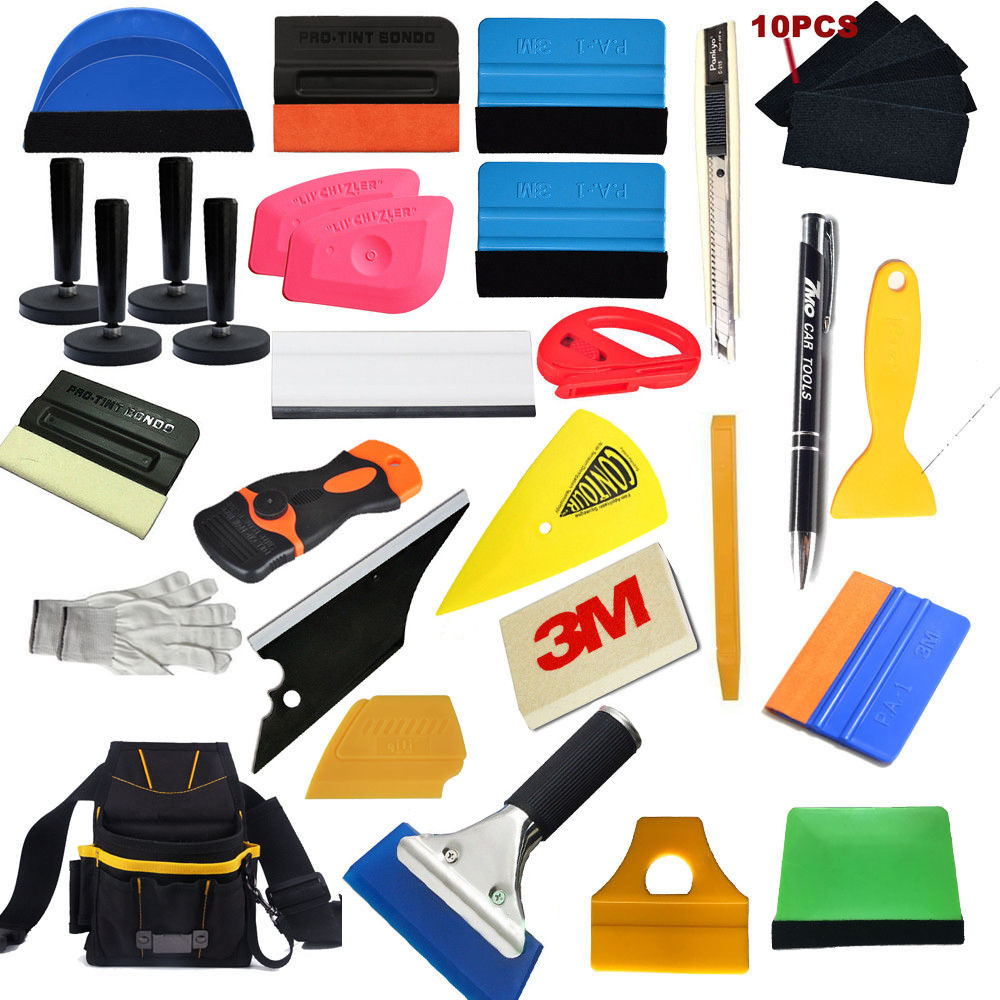 Car Wrapping Installation Tools Kit Vinyl Wrap Bag Squeegee Razor Glove Magnets|Decals & Stickers| |  - title=