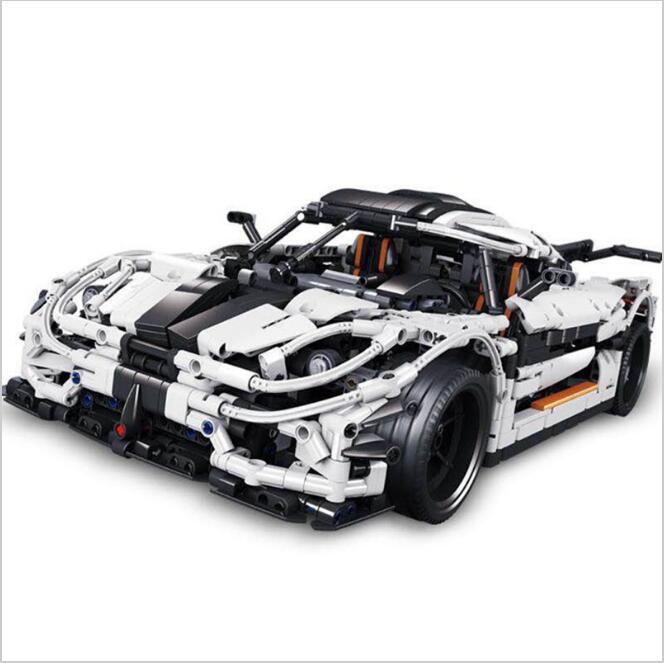 Lis 23002 3136 Pcs Technic Series The MOC-4789 Changing Racing Car Set Children Building Blocks Toys Compatible legoINGLYS kislis 4789